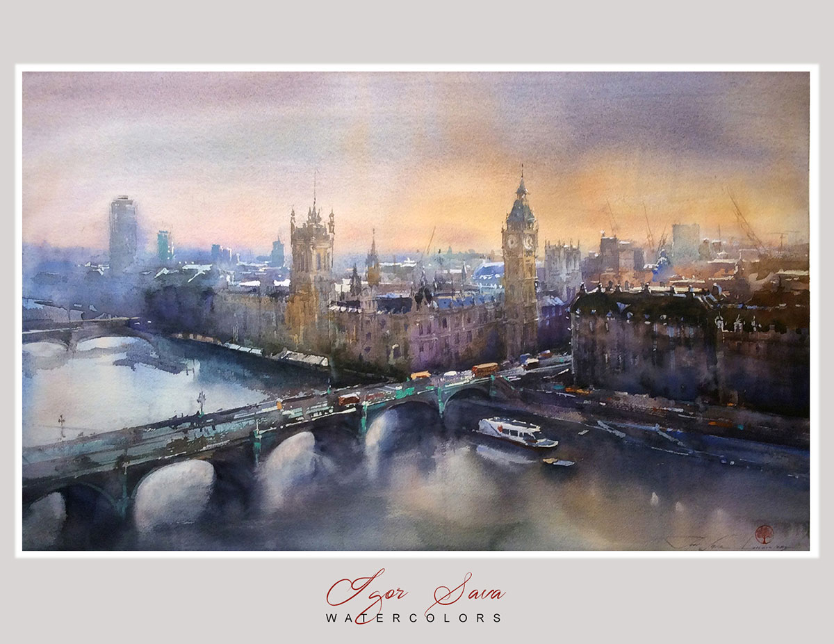 Igor Sava Flying over London